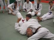 Dan holds Brian Jacks for ippon..! (he's actually about to get strangled!)