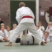 Sensei Jacks demonstrating a throw for the juniors